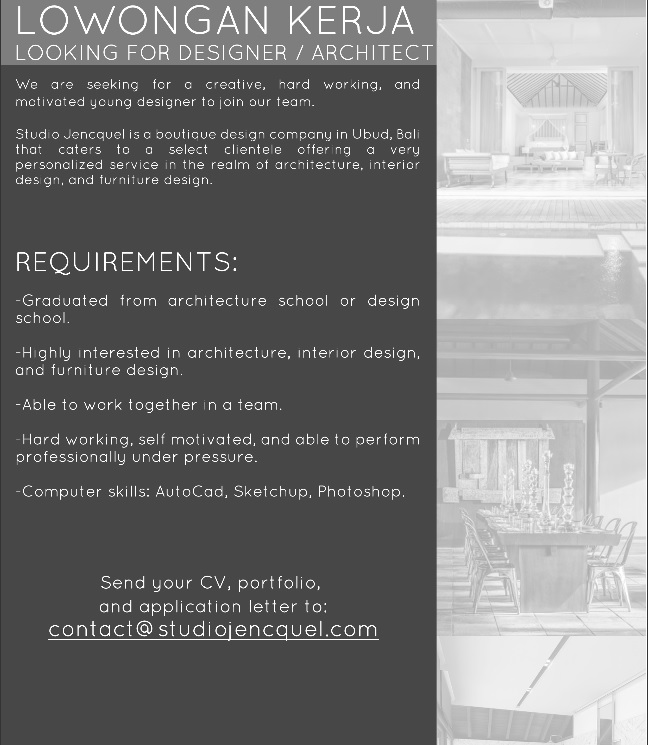 JOB VACANCY-UBUD-MARET2016